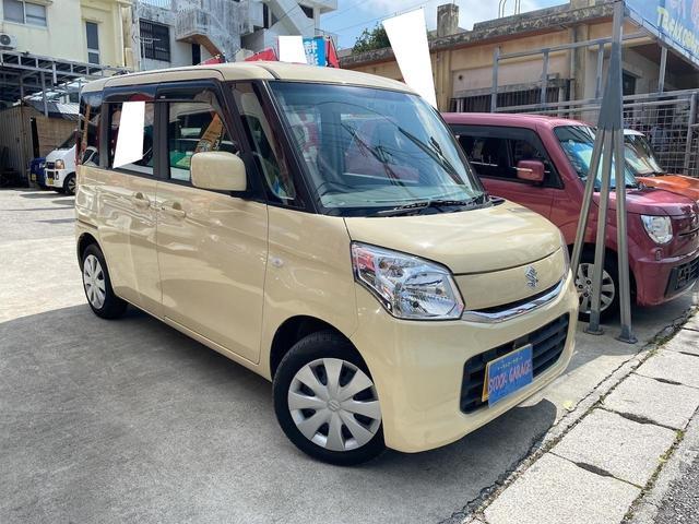 沖縄の中古車 スズキ スペーシア 車両価格 75万円 リ済別 2015(平成27)後 5.8万km ライトイエロー