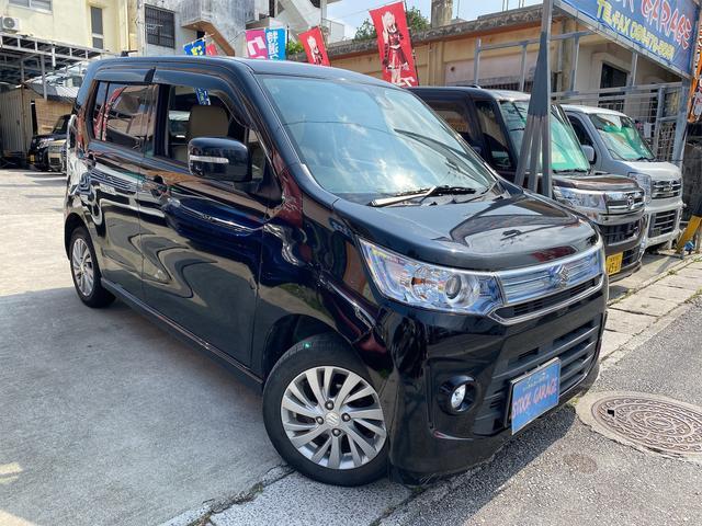 沖縄の中古車 スズキ ワゴンR 車両価格 68万円 リ済別 2014(平成26)後 7.1万km ブラックM