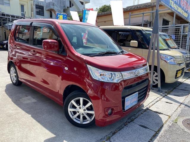 沖縄の中古車 スズキ ワゴンRスティングレー 車両価格 45万円 リ済別 2013(平成25)後 11.7万km レッドM