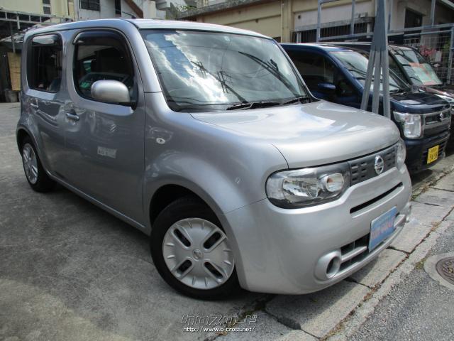 沖縄の中古車 日産 キューブ 車両価格 39万円 リ済別 2011(平成23)年 5.0万km ライトグレーM