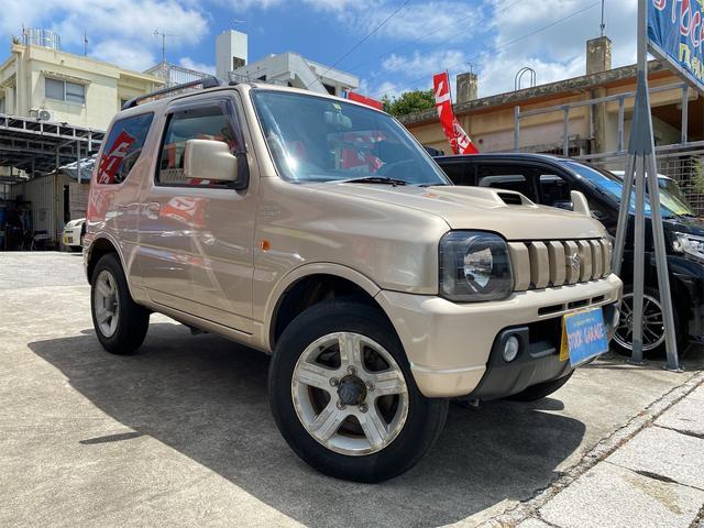 沖縄の中古車 スズキ ジムニー 車両価格 75万円 リ済別 2008(平成20)年 8.0万km ライトゴールドM