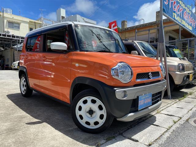 沖縄県の中古車ならハスラー G ハイブリッド・アイドリングストップ・プッシュスタート・スマートキー・オートエアコン・CD・シートカバー・シートヒーター・レーダーブレーキサポート