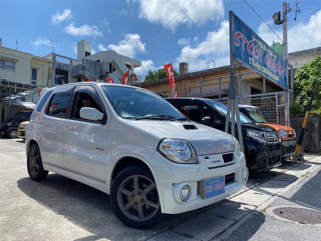 沖縄の中古車 スズキ Keiワークス 車両価格 49万円 リ済別 2004(平成16)年 12.4万km パールホワイト