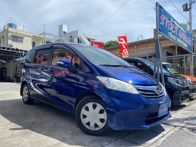 沖縄の中古車 ホンダ フリード 車両価格 65万円 リ済別 2012(平成24)年 5.3万km ブルーM