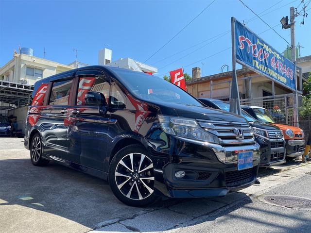 沖縄県宜野湾市の中古車ならステップワゴンスパーダ Z クールスピリット 後期アイドリングストップ・両側電動スライドドア・HDDインターナビDVDワンセグ・バックカメラ・ETC・スマートキー・Wエアコン・ステアリングスイッチ・クルーズコントロール