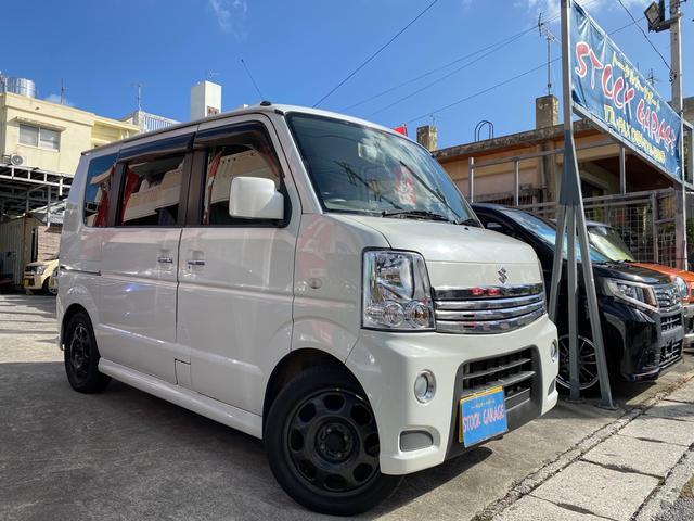 沖縄県の中古車ならエブリイワゴン PZターボ 電動スライドドア・キーレス・CD・ハスラー純正15インチ