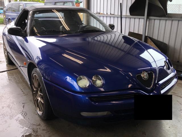 沖縄の中古車 アルファロメオ アルファスパイダー 車両価格 45万円 リ済込 1998年 9.6万km ブルー