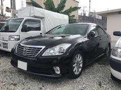 沖縄の中古車 トヨタ クラウン 車両価格 129万円 リ済込 平成23年 6.9万K ブラック
