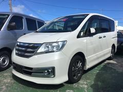 沖縄の中古車 日産 セレナ 車両価格 89万円 リ済込 平成23年 10.4万K パールホワイト