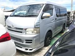 沖縄の中古車 トヨタ ハイエースワゴン 車両価格 120万円 リ済込 平成18年 11.6万K グレー