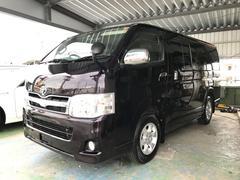 沖縄の中古車 トヨタ ハイエースバン 車両価格 ASK リ済込 平成25年 16.5万K ブラック
