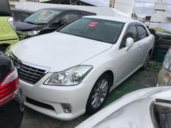 沖縄の中古車 トヨタ クラウン 車両価格 105万円 リ済込 平成23年 11.0万K パール