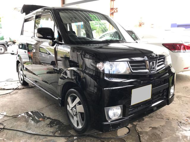 沖縄の中古車 ホンダ ゼストスパーク 車両価格 47万円 リ済込 平成24年 9.2万km ブラック