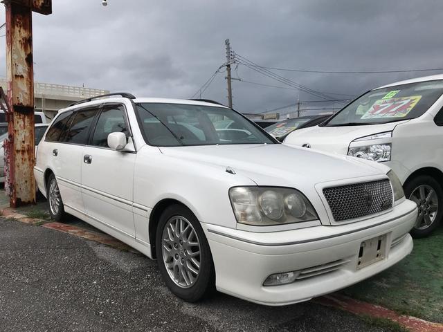沖縄の中古車 トヨタ クラウンエステート 車両価格 29万円 リ済込 平成16年 12.1万km パール