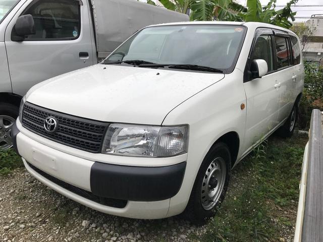 沖縄の中古車 トヨタ プロボックスバン 車両価格 55万円 リ済込 平成25年 7.5万km ホワイト