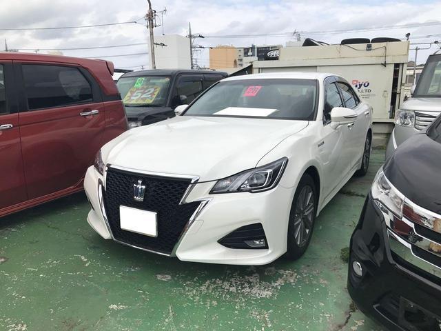 沖縄の中古車 トヨタ クラウンハイブリッド 車両価格 319万円 リ済込 2016(平成28)年 2.2万km パール