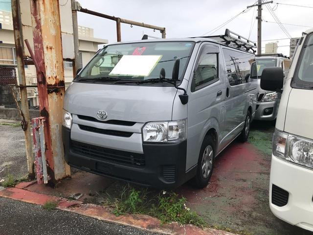 沖縄県の中古車ならハイエースバン ロングDX 純正ルーフキャリア付 9名乗り ETC