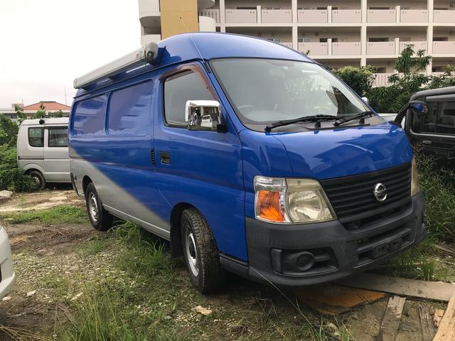沖縄の中古車 日産 キャラバン 車両価格 75万円 リ済込 2006(平成18)年 6.5万km ブルー