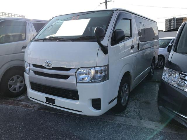 沖縄県の中古車ならレジアスエースバン ロングDX 9名乗り Wエアコン ETC ナビ TV