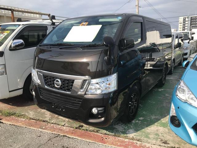 沖縄の中古車 日産 NV350キャラバンバン 車両価格 158万円 リ済込 2014(平成26)年 16.3万km ブラック