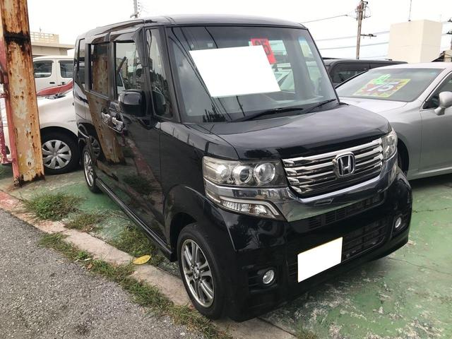 沖縄県の中古車ならN-BOXカスタム G・Lパッケージ 純正ナビ TV バックモニター