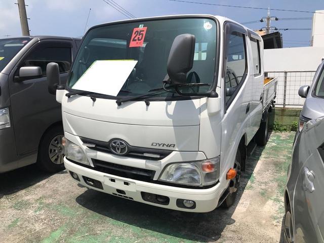 沖縄県宜野湾市の中古車ならダイナトラック Wキャブフルジャストロー 5MT 6人乗り バックモニター セーフティセンス搭載 ETC
