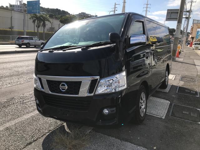 沖縄県の中古車ならNV350キャラバンバン  ロングプレミアムGX クロムギアブラック 純正ナビ TV バックカメラ ETC レザーシート スマートキー