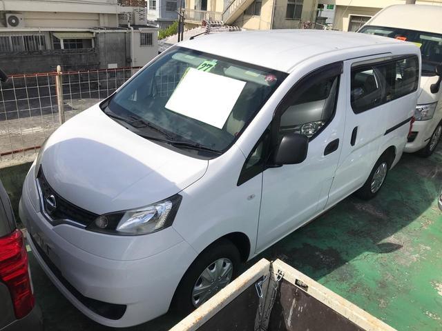 沖縄県の中古車ならNV200バネットバン  福祉車両 車椅子2基 禁煙車 記録簿付 キーレス バックカメラ 6人乗り 両側スライドドア