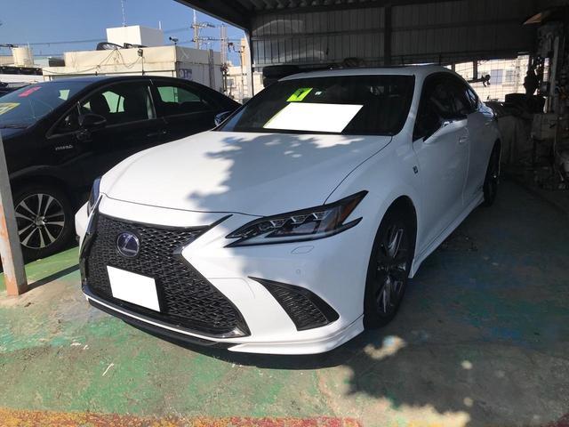沖縄の中古車 レクサス ES 車両価格 555万円 リ済込 2019年 6.5万km パールホワイト