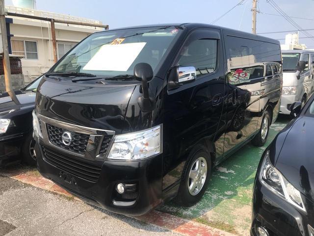 沖縄の中古車 日産 NV350キャラバンバン 車両価格 ASK リ済込 2014(平成26)年 15.6万km ブラック