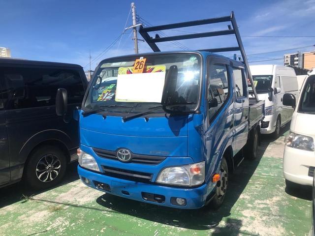 沖縄県宜野湾市の中古車ならダイナトラック ベースグレード Wキャブ 2トン車 6人乗り キーレス MT5速