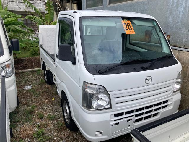 沖縄の中古車 マツダ スクラムトラック 車両価格 69万円 リ済込 2014(平成26)年 13.1万km ホワイト