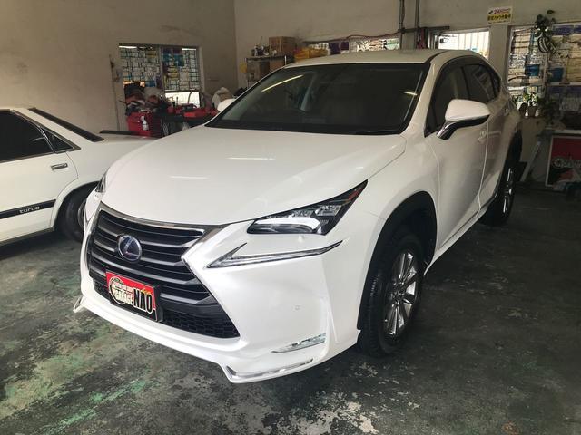 沖縄の中古車 レクサス NX 車両価格 370万円 リ済別 2014(平成26)年 6.7万km パールホワイト