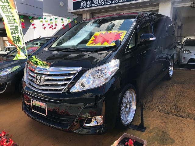 沖縄の中古車 トヨタ アルファード 車両価格 180万円 リ済込 2013(平成25)年 3.4万km ブラック