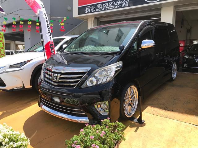 沖縄の中古車 トヨタ アルファード 車両価格 185万円 リ済込 2013(平成25)年 6.6万km ブラック