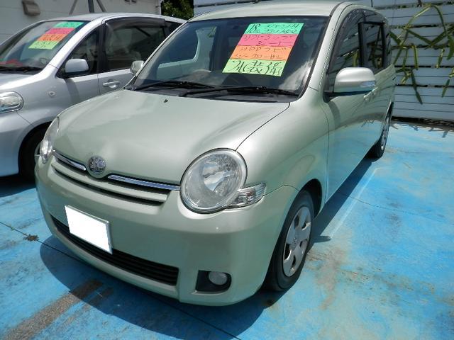 沖縄の中古車 トヨタ シエンタ 車両価格 29万円 リ済込 平成18年 8.3万km Lグリーン
