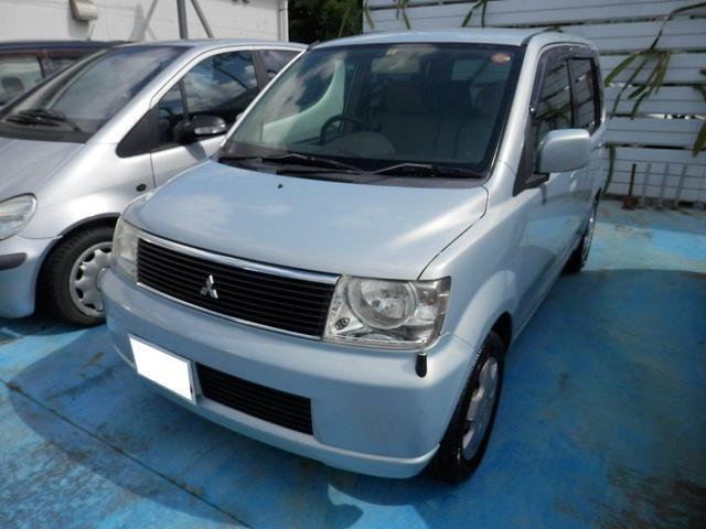 沖縄の中古車 三菱 eKワゴン 車両価格 15万円 リ済込 平成16年 12.9万km シルバーM