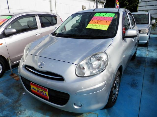 沖縄の中古車 日産 マーチ 車両価格 38万円 リ済込 2011(平成23)年 4.5万km シルバーM