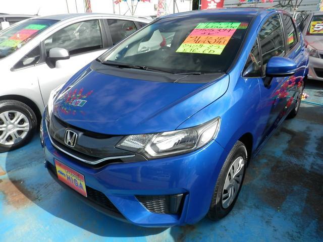 沖縄の中古車 ホンダ フィット 車両価格 73万円 リ済込 2015(平成27)年 6.3万km ブルーM
