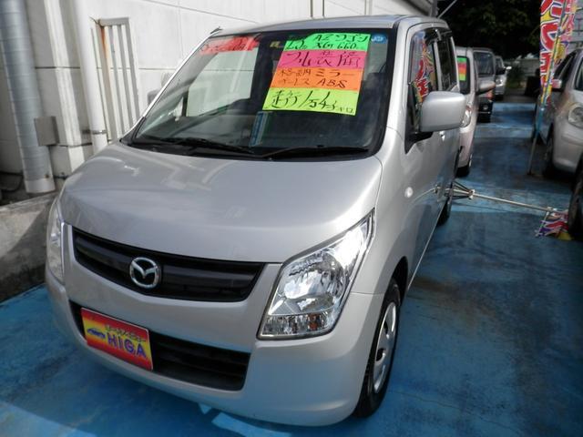 沖縄の中古車 マツダ AZワゴン 車両価格 48万円 リ済込 2011(平成23)年 1.4万km シルバーM
