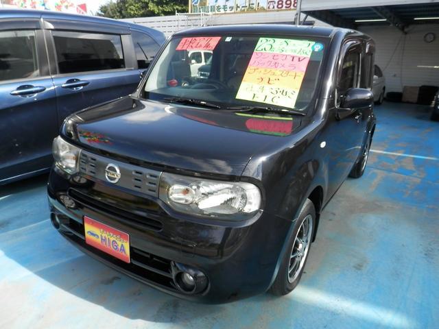 沖縄の中古車 日産 キューブ 車両価格 43万円 リ済込 2011(平成23)年 8.2万km ブラックM