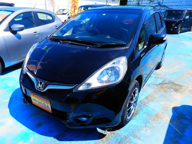 沖縄の中古車 ホンダ フィット 車両価格 43万円 リ済込 2012(平成24)年 7.5万km ブラックM