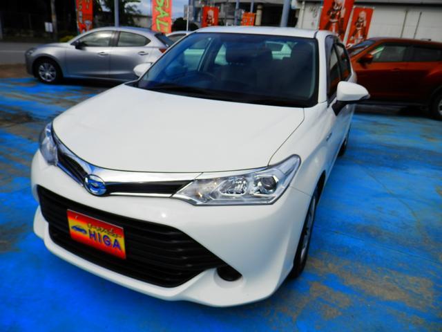 沖縄の中古車 トヨタ カローラアクシオ 車両価格 78万円 リ済込 2015(平成27)年 5.2万km ホワイト
