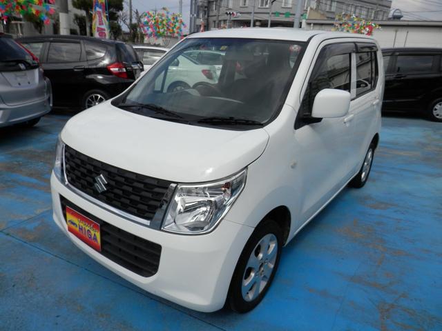 沖縄の中古車 スズキ ワゴンR 車両価格 48万円 リ済込 2015(平成27)年 7.7万km ホワイト