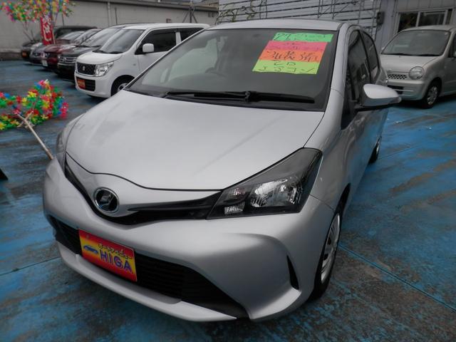 沖縄の中古車 トヨタ ヴィッツ 車両価格 65万円 リ済込 2015(平成27)年 4.5万km シルバーM