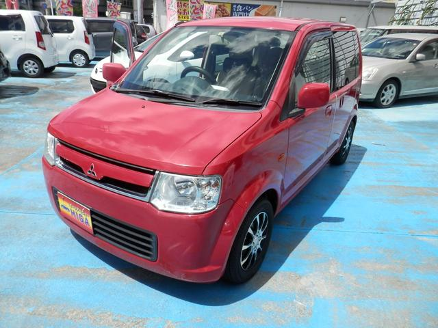 沖縄の中古車 三菱 eKワゴン 車両価格 15万円 リ済込 2008(平成20)年 10.8万km レッド