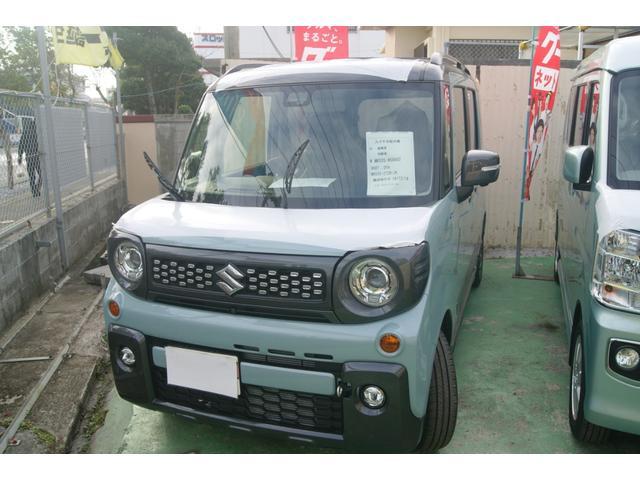 沖縄の中古車 スズキ スペーシアギア 車両価格 167万円 リ済込 新車  オフブルーメタリック