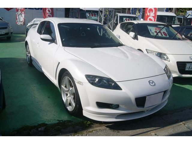 沖縄の中古車 マツダ RX-8 車両価格 34万円 リ済込 平成16年 9.1万km ホワイト