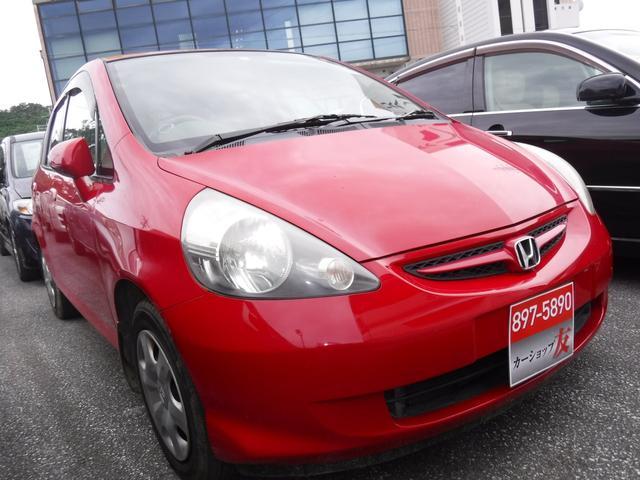 沖縄の中古車 ホンダ フィット 車両価格 19万円 リ済込 2006(平成18)年 7.3万km レッド