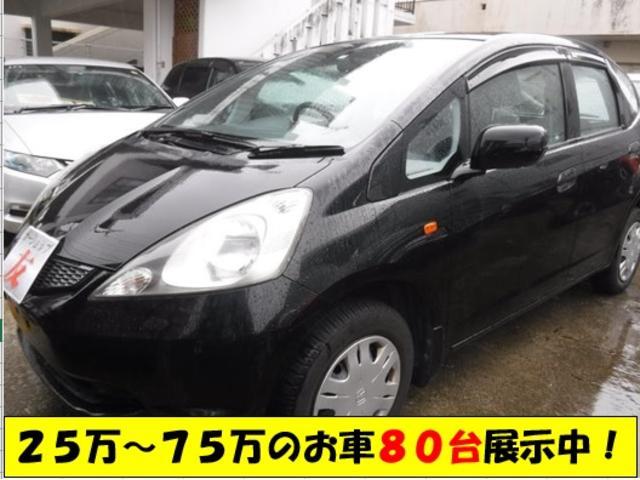 沖縄の中古車 ホンダ フィット 車両価格 25万円 リ済込 2009(平成21)年 10.4万km ブラック
